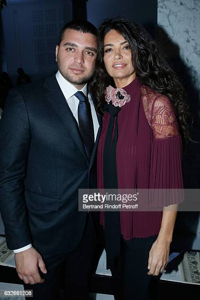 Elie Saab Jr and Afef Jnifen attend the Elie Saab Haute Couture Spring Summer 2017 show as part of Paris Fashion Week on January 25 2017 in Paris...