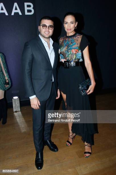 Elie Saab Jr and Nieves Alvarez attend the Elie Saab show as part of the Paris Fashion Week Womenswear Spring/Summer 2018 on September 30 2017 in...
