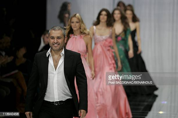 Elie Saab ready to wear SpringSummer 2006 Fashion show in Paris France On October 09 2005Elie Saab Fashion show the designer Elie Saab