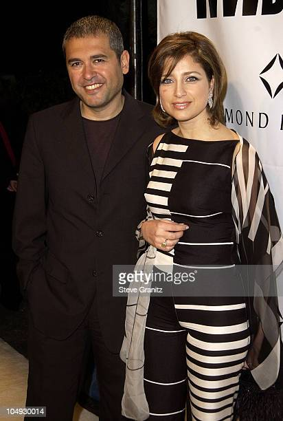 Elie Saab wife Claudine during Women's Wear Daily The Ultimate Fashion Authority Hosted White Hot Diamonds The Exclusive PreOscar Fashion Event Where...