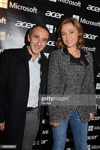 Elie Semoun and Sandrine Quetier attend the Acer Pop Up Store Launch Party at Les Halles on November 20 2014 in Paris France