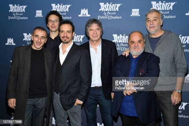 Elie Semoun Louis Clichy Alexandre Astier Lionnel Astier Guillaume Briat and Bernard Alane attend Asterix Le Secret de la Potion Magique Paris...
