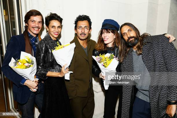 Elie Top Farida Kelfa Haider Ackermann Lou Doillon and guest attend the 33rd Hyeres Festival Press Conference as part of Paris Fashion Week Haute...