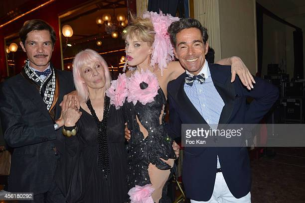 Elie Top Marie Beltrami Arielle Dombasle and Vincent Dare attend the Cabaret New Burlesque Show at the Cirque D'Hiver on September 26 2014 in Paris...