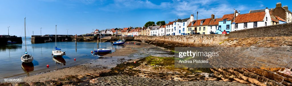 Elie Village In Fife County Scotland Stock Photo - Getty Images