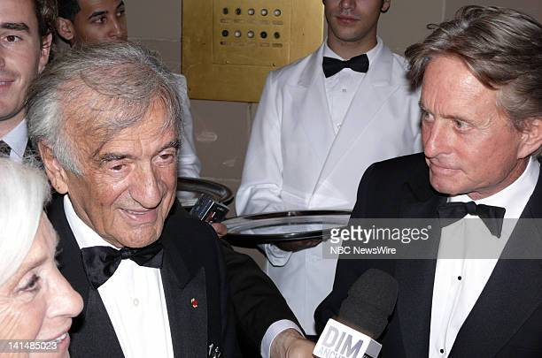 NBC NEWS Elie Wiesel Foundation for Humanity to Honor Nicolas Sarkozy Pictured Marion Weisel author/activist Elie Weisel and actor Michael Douglas...