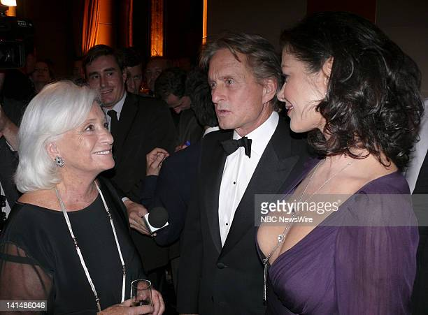 NBC NEWS Elie Wiesel Foundation for Humanity to Honor Nicolas Sarkozy Pictured Marion Weisel and actors Michael Douglas and Catherine ZetaJones...