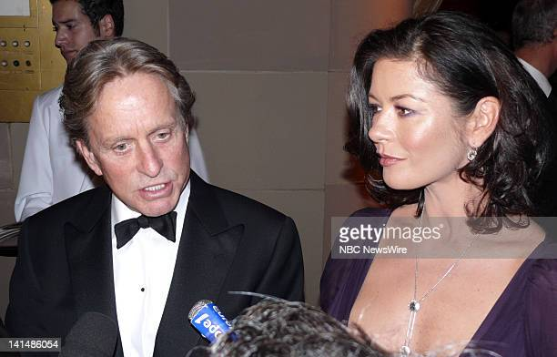 NBC NEWS Elie Wiesel Foundation for Humanity to Honor Nicolas Sarkozy Pictured Actors Catherine ZetaJones and Michael Douglas during the Elie Wiesel...