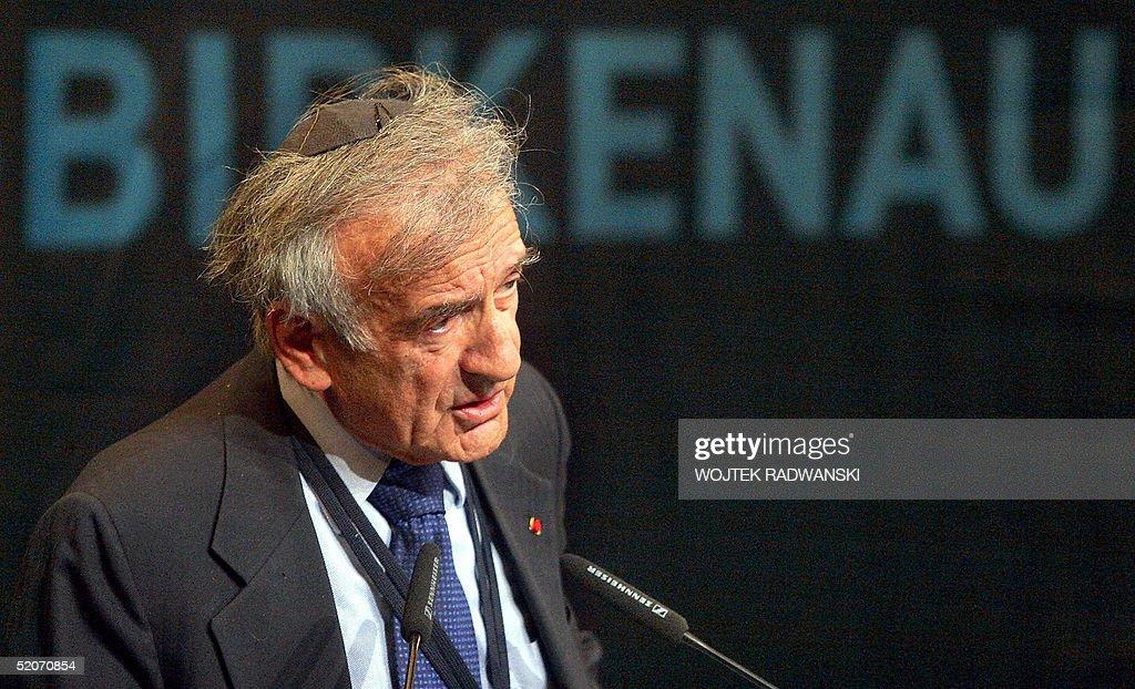 Elie Wiesel - KL Auschwitz-Birkenau  Naz : News Photo