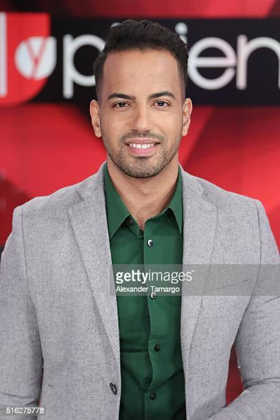 Eliecer Marte is seen on the set of Sal y Pimienta at Univision Studios on March 17 2016 in Miami Florida