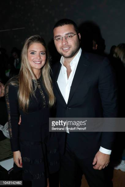 Eliee Saab Junior and guest attend the ELie Saab show as part of the Paris Fashion Week Womenswear Spring/Summer 2019 on September 29 2018 in Paris...