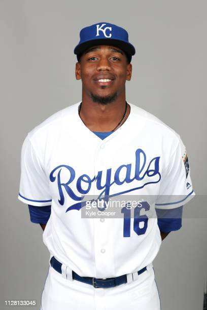 Elier Hernandez of the Kansas City Royals poses during Photo Day on Thursday February 21 2019 at Surprise Stadium in Surprise Arizona