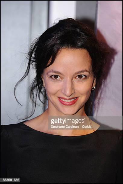"""Eliette Abecassis attends the premiere of """"Un Heureux Evenement"""" in Paris."""