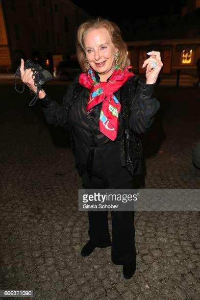 Eliette von Karajan during the opening of the Easter Festival 2017 'Walkuere' opera premiere on April 8 2017 in Salzburg Austria The opera is a...