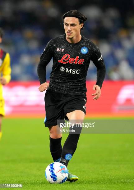 Elif Elmas of SSC Napoli in action ,during the Serie A match between SSC Napoli and Bologna FC at Stadio Diego Armando Maradona on October 28, 2021...
