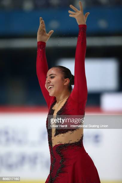 Elif Erdem of Turkey performs in the Junior Ladies Free Skating Program during day four of the ISU Junior Grand Prix of Figure Skating at Dom...