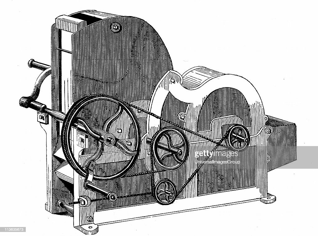 Elihu Whitney's (1765-1825) saw-gin for cleaning cotton. Wood engraving 1865 ... : News Photo