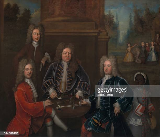 Elihu Yale; William Cavendish, the second Duke of Devonshire; Lord James Cavendish; Mr. Tunstal; and an Enslaved Servant, Unknown artist, eighteenth...