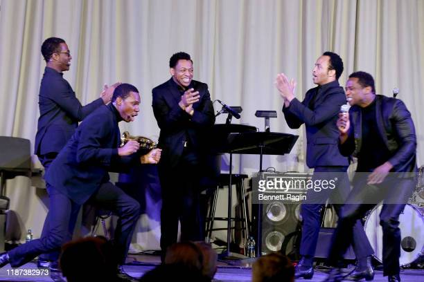 Elijah Ahmad Lewis Shawn Bowers Derrick Baskin James Harkness Jelani Remy perform onstage during The Red Carpet Hospitality Gala Hosted by the Hotel...