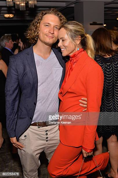 Elijah AllanBlitz and actress Maria Bello at the Lion TIFF party hosted by GREY GOOSE Vodka and Soho House Toronto on September 10 2016 in Toronto...