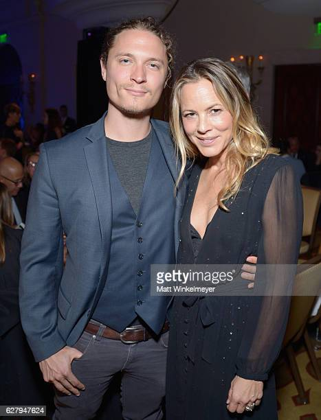 Elijah AllanBlitz and Honorary Host Committee Member Maria Bello attend Equality Now's third annual Make Equality Reality Gala on December 5 2016 in...