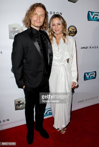 Elijah AllanBlitz and Maria Bello attend the 8th Annual Lumiere Awards at Warner Bros Studios on February 13 2017 in Burbank California