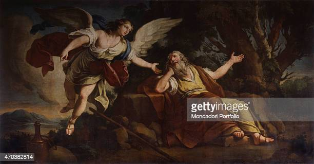 'Elijah and the Angel by Francis Maggiotto 18th century oil on canvas Italy Veneto Venice St John's Church in Bragora Whole artwork view Elijah...