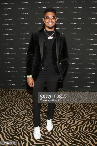 Elijah Bell arrives as Fashion Nova Presents Party With Cardi at Hollywood Palladium on May 8 2019 in Los Angeles California