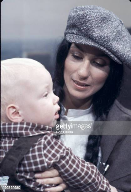 Elijah Blue Allman and Cher during Cher Visits The Stanley Siegel Show September 23 1977 at Pierre Hotel in New York City New York United States