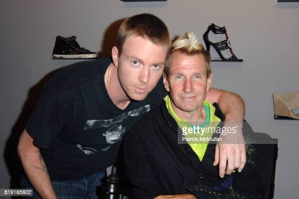 Elijah Blue Allman and Tommy Hollenstein attend Elijah Blue 'Stuff of Legends' presented by Kantor Gallery and Madison Gallery at Malibu on July 2...