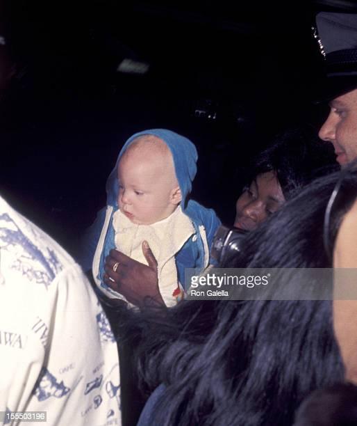 Elijah Blue Allman his nanny March 20 1977 during Elijah Blue Allman File Photos 1977 in Aspen Colorado United States