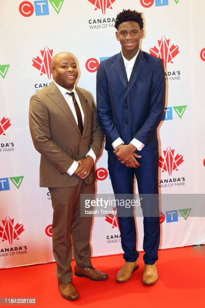 Elijah Fisher and guest attend the 2019 Canada's Walk Of Fame at Metro Toronto Convention Centre on November 23, 2019 in Toronto, Canada.