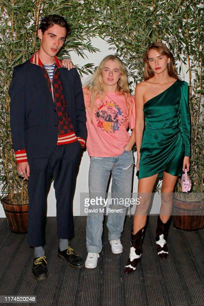 Elijah Hewson Anaïs Gallagher and Gabriella Brooks attendsthe launch of Reformation's first London store at BaySIXTY6 Skatepark on September 13 2019...