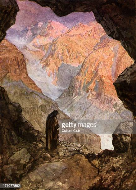 Elijah in the desert of Horeb in the entrance to the cave I Kings 19 11 12 ' And he said Go forth and stand upon the mount before the LORD And behold...