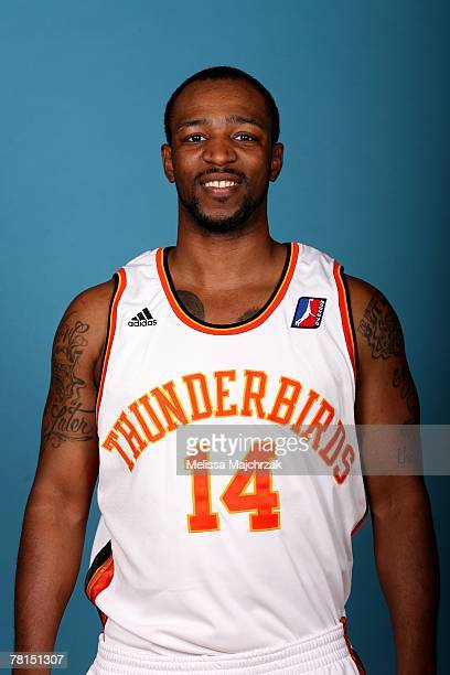 Elijah Ingram of the Albuquerque Thunderbirds poses for a portrait during DLeague media day on November 13 2007 at the Open Court in Lehi Utah NOTE...
