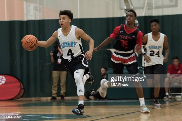 Elijah Johnson of Seattle Rotary dribbles the ball against Alaska Tru Game during the Jr NBA World Championship Northwest Regional Finals on July 1...
