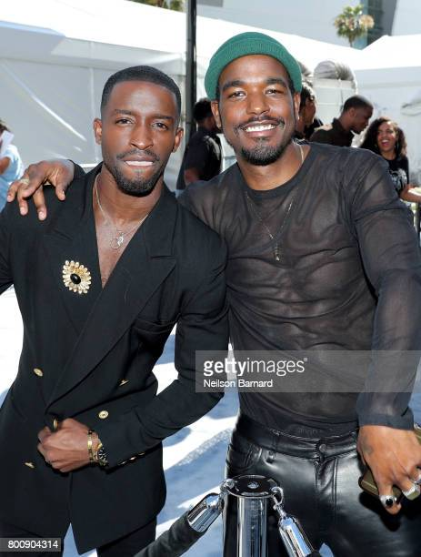 Elijah Kelley and Luke James at Live Red Ready PreShow at the 2017 BET Awards at Microsoft Square on June 25 2017 in Los Angeles California