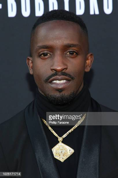 Elijah Kelley attends BET and Toyota present the premiere screening of The Bobby Brown Story at Paramount Theatre on August 29 2018 in Hollywood...
