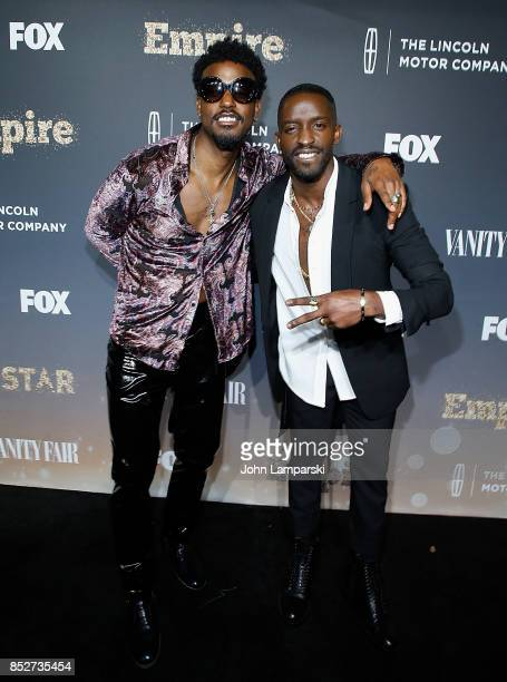 Elijah Kelly and Luke james attend Empire Star celebrate FOX's New Wednesday Night at One World Observatory on September 23 2017 in New York City