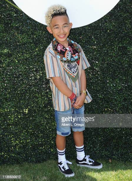 Elijah Lopez arrives for Clubhouse Kidchella held at Pershing Square on April 6 2019 in Los Angeles California