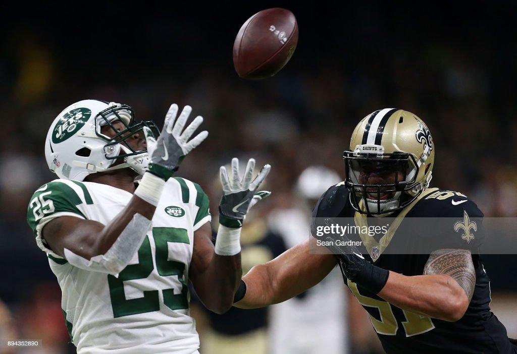 New York Jets vs New Orleans Saints : Fotografía de noticias