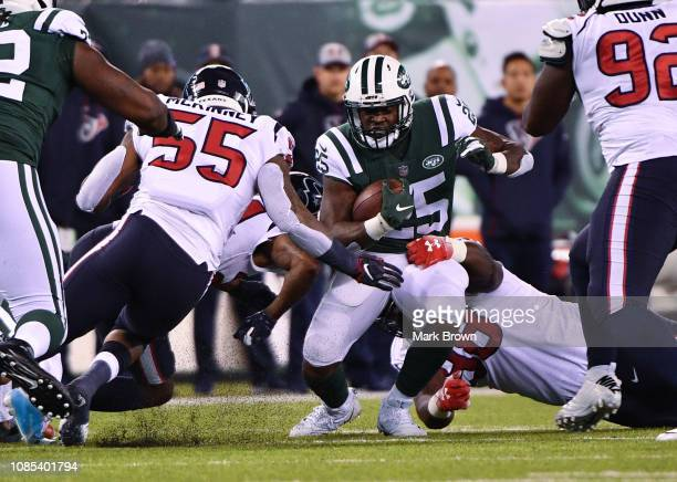 Elijah McGuire of the New York Jets in action against the Houston Texans at MetLife Stadium on December 15 2018 in East Rutherford New Jersey