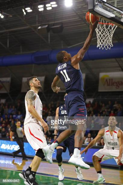Elijah Millsap of Team USA drives to the basket during the game against Team Mexico during the FIBA World Cup America Qualifiers on November 20 2017...