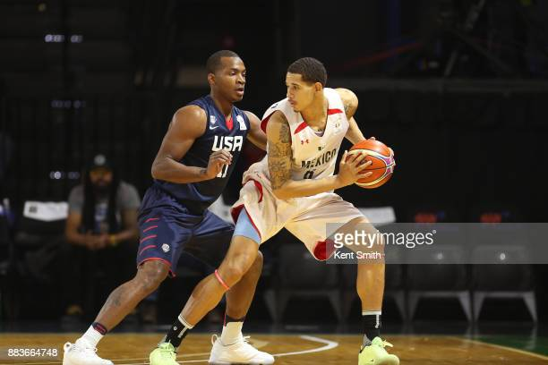 Elijah Millsap of Team USA plays defense during the game against Team Mexico during the FIBA World Cup America Qualifiers on November 20 2017 at...