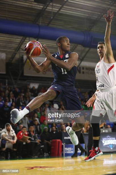 Elijah Millsap of Team USA saves a ball from going out of bounds against Team Mexico during the FIBA World Cup America Qualifiers on November 20 2017...
