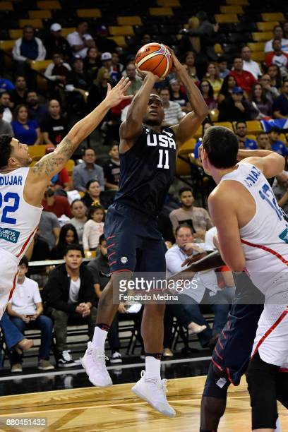 Elijah Millsap of Team USA shoots the ball against Purto Rico during the FIBA World Cup America Qualifiers on November 23 2017 at CFE Arena in...