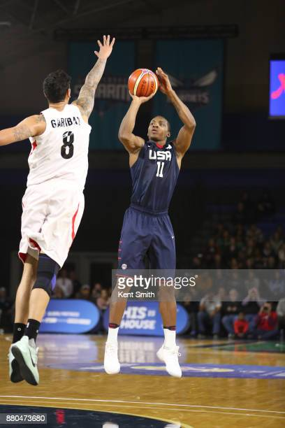 Elijah Millsap of Team USA shoots the ball against Team Mexico during the FIBA World Cup America Qualifiers on November 20 2017 at Greensboro...