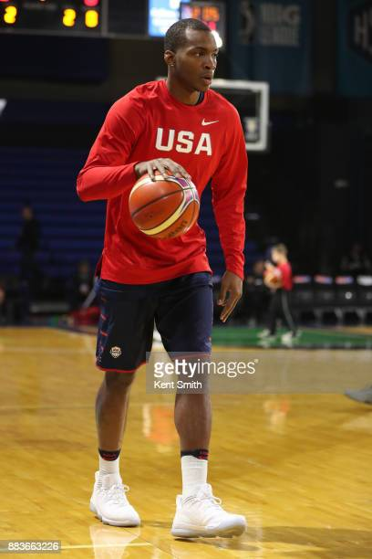 Elijah Millsap of Team USA warms up before the game against Team Mexico during the FIBA World Cup America Qualifiers on November 20 2017 at...