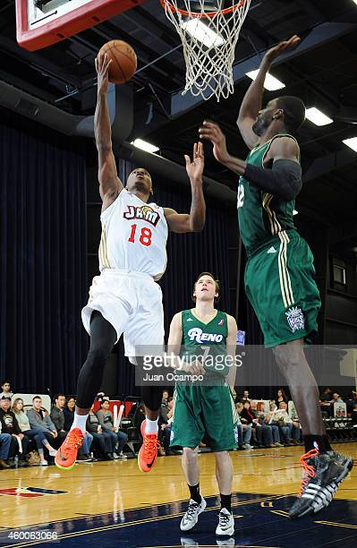 Elijah Millsap of the Bakersfield Jam goes to the basket against the Reno Bighorns during a DLeague game on December 5 2014 at Dignity Health Event...