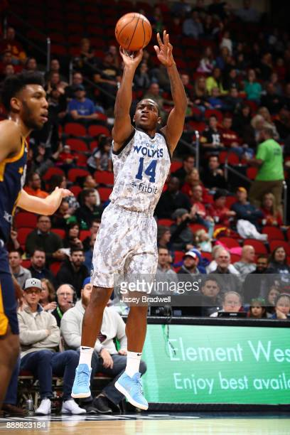 Elijah Millsap of the Iowa Wolves shoots a jumpshot against the Salt Lake City Stars in an NBA GLeague game on December 8 2017 at the Wells Fargo...